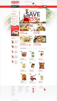 fabulous-restaurant-magento-template Asian food is gaining popularity worldwide. While for some of us this is a delicacy, for many others Asian noodles, rice, miso paste and soup are a common dish they savour on a daily basis. To try authentic Asian food, there is no need in traveling to China or Japan since there are many Asian grocery stores available on the web. To help your website stand out, the offered theme was developed. Its great visuals and vibrant coral hues will trigger appetite…