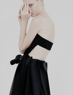 Minimal black top & skirt, contemporary fashion details // Melitta Baumeister Spring 2015