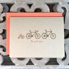 baby card family bike
