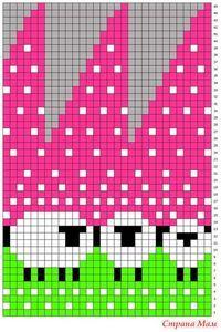 Шапка с овечками, схема + описание (baablehat, baa ble hat)