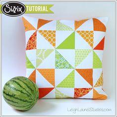 Sizzix Tutorial   Melon Slice Pillow by Karin Jordan