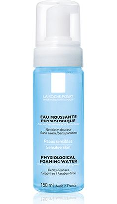 All about Physiological Foaming Water, a product in the Physiological cleansers range by La Roche-Posay recommended for Sensitive, dehydrated  skin. Free expert advice