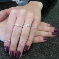 Combinação perfeita de kit ponto luz lilás e anéis da Prata Fina.