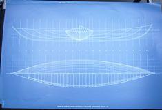 tracés d'après relevés sur coque Anh Gloux, années 90 - pour édition Musée de la Pêche Concarneau Brittany, Atelier, Sailors, Greeting Card
