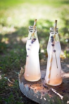 Lavender lemonade. To go with the lavender lemon shortbread cookies