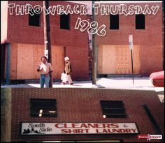Owner, Jerry Guzzo, standing in front of his finished Masonry Project for South Side Cleaners in Philadelphia, PA 1986!   #throwbackthursday #tbt #GuzzoStucco #1986 #owner #masonry #brick #PA
