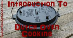 Anything that can be cooked in an oven or slow cooker can be duplicated with Dutch Oven Cooking. It might take a bit more work, but the effort is worth it! Skillet Cooking, Cast Iron Cooking, Oven Cooking, Cooking Tips, Cooking Recipes, Cooking Stuff, Yummy Recipes, Dutch Oven Camping