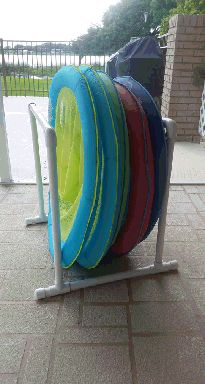 Charmant A Simple But Effective Pool Float Storage Solution Made From Pvc Pipe
