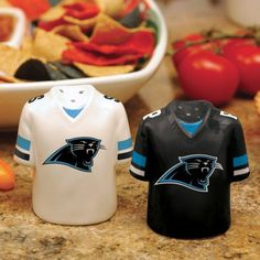 Carolina Panthers Gameday Ceramic Salt & Pepper Shakers - NFL #TheMemoryCompany #CarolinaPanthers