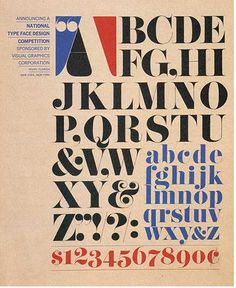 Pistilli Roman poster by Herb Lubalin + John Pistilli (early 1960's). Awesome font