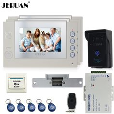 Türsprechstelle 2019 Mode Smartyiba Neue 7 wired Video Tür Telefon Türklingel Home Security Intercom System 2 Kamera Mit 3-monitor