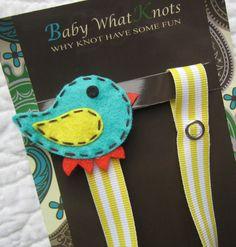 Boy Pacifier Clip Blue Bird Pacifier Clip Baby by BabyWhatKnots
