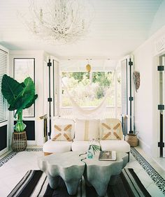New York interior designer Celerie Kemble has recently brought her smart blending of the classic and the contemporary to the Dominican Republic, where she and a score of friends have created a genre-defying beachfront playground in the jungle — Playa Grande Beach Club — with nine enticing gingerbread bungalows offering guests a unique home-away-from-home resort stay.