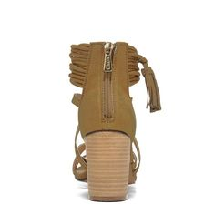 XOXO Women's Elle Dress Sandals (Olive) - 11.0 M