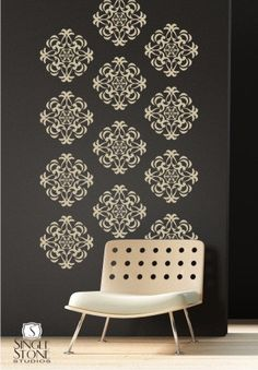 Wall Decals Medallion Wall Pattern - Vinyl Stickers Art. $75.00, via Etsy.