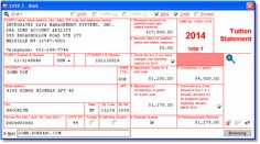 Account Ability's 1098-T User Interface for 2014
