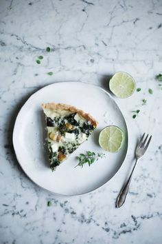 Kale Quiche with Mushrooms
