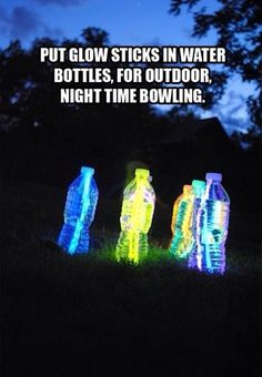 Fun activity for summer nights to do with friends it family or at a party! It's also easy to make too!