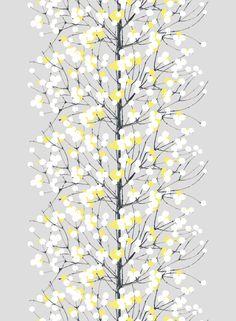 Lumimarja cotton (grey,yellow,white) |Fabrics, Cottons | Marimekko
