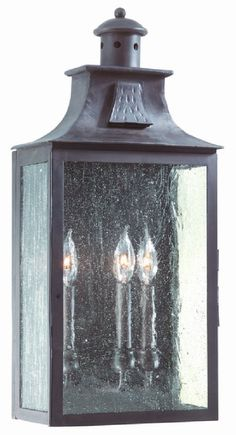 Troy Lighting Newton 3 Light Wall Pocket Lantern in Old Bronze