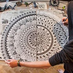 Mandala Designs, woerm: Almost finished with this magnificent...