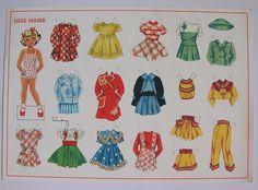 3 Danish Uncut Paperdolls by Gerda Vinding -. Big Marie, Little Marie and Black Marie. | eBay!