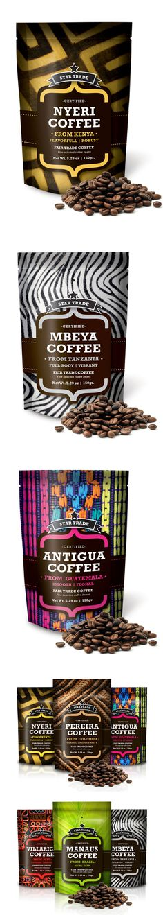 Star Trade Coffee PD | flexible packaging - stand up pouch with colorful and unique designs