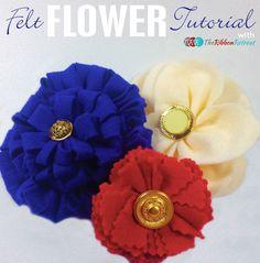 Felt Flower Tutorial - The Ribbon Retreat Blog