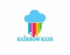 Rainbow Rain Designed by Annes Kindergarten Logo, Graphic Design Trends, Logo Design Inspiration, Pink Wallpaper Design, Rain Logo, Love Logo, Studio Logo, How To Make Logo, Color Studies