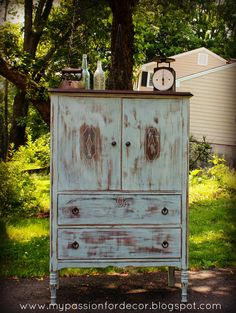 My Pion For Decor Flea Market Highboy Favorite Project To Date Betty Van Sant Decorating With Distressed Furniture