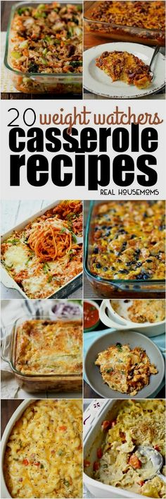 20 Weight Watchers Casserole Recipes. These 20 Weight Watchers Casserole Recipes will help you eat better while still enjoying your favorite easy casserole recipes! #WeightWatchersRecipes
