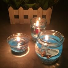 Crystal Light Gel parfumé bougie sans fumée cire de gelée de mariage décoration romantique Moment bougies proposition anniversaires(China (Mainland))
