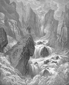 In with the river sunk, and with it rose Satan - Gustave Dore