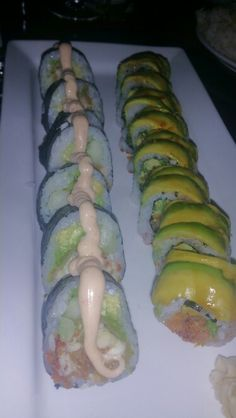 Fresh Snapper Roll and Dragon Roll at Asia Bay