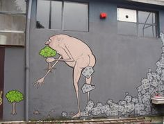 graffiti - global warming - deforestation