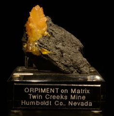 Orpiment on matrix! Madmineralz.com specimen