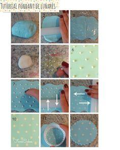 Cupcakes para bebés + tutorial de fondant con lunares