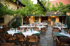 The Heuriger Wine Tavern in Vienna, where Friday night's rehearsal dinner took place.