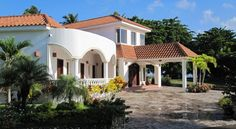 Cabarete Vacation Rental - VRBO 205775 - 5 BR Dominican Republic Villa, Magnificent Beach Front Mediterranean Villa