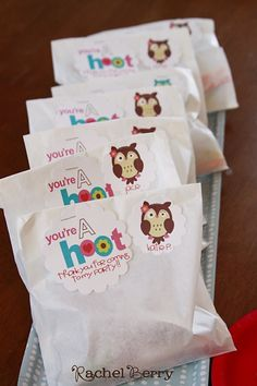 Party Favors - You're a HOOT, thanks for coming to my party!
