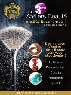 Tentez votre chance les filles :) Participez aux 3ème Ateliers de la Beauté ! @victoiresbeaute