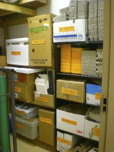 Eggers Art Room Organization - stored recycled materials