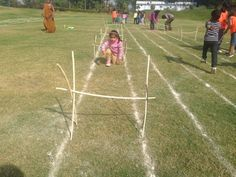 Kids were so excited to complete the obstacle #GGIS #RepublicDay #SportsDay