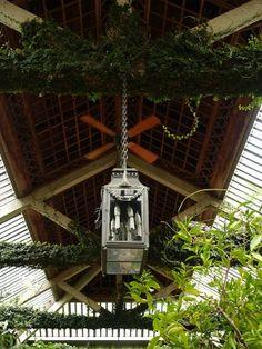 Light fixture at Dumbarton Oaks Gardens, District Of Columbia