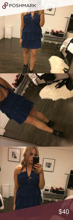 BRAND NEW ROYAL BLUE TIE UP DRESS Never worn. Stunning blue dress. Bought it to wear to a wedding and wore another option! Lulu's Dresses