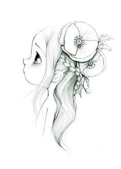 la fiancée au beurre salé: Wild Hope by Life Drawing, Drawing Sketches, Painting & Drawing, Drawing Ideas, Cute Drawings, Pencil Drawings, Illustration Arte, Pencil Art, Cute Art