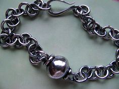 Unisex Sterling Silver Chain Bracelet Men's Silver by ritamoehler, $89.00
