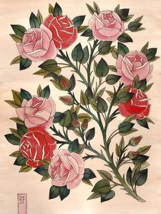 tattoo roses japanese - Google Search