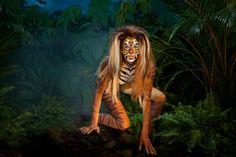 Bodypainting Amica ragazza Tigre nella giungla - 2012