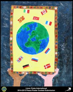2014-15 Lions Clubs International Peace Poster Competition submission from Mileva Maric Einstein Novi Sad Lions Club in Serbia